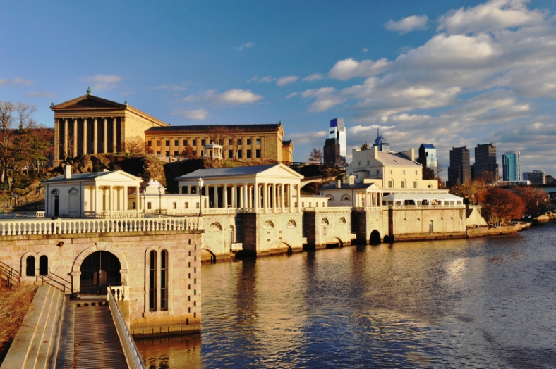 Water Works, Museum of Art and Downtown Philadelphia, Pennsylvania, USA